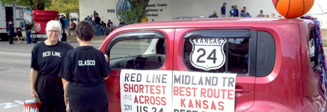 Glasco participated in the Kansas 150th Sunflower Parade