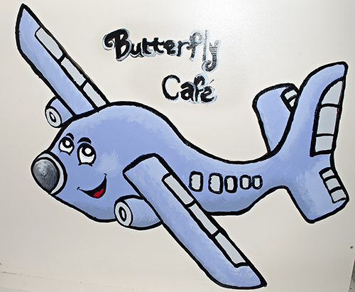 Butterfly Cafe sign