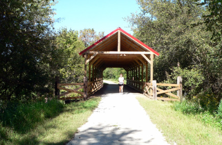 Blue River Rail Trail Covered Bridge