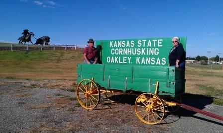 Kansas State Cornhusking Wagon